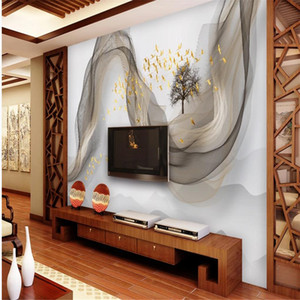 beautiful scenery wallpapers Chinese style landscape bird wallpapers TV background wall 3d wallpapers