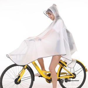 QudfN EVA compartir la moda poncho tira reflectante bicicleta senderismo Capa impermeable capa impermeable de la bicicleta para adultos