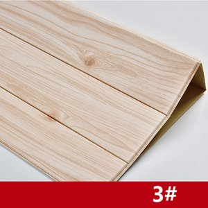 cheap 3D Wooden Wall Sticker Living Room Home Decor PE Foam Waterproof Wall Covering Wallpaper For TV Background Kids Room