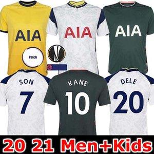 Homens + KIDS KIT 20 21 KANE SON Bergwijn NDOMBELE de Futebol 2020 2021 LUCAS DELE camisa kit TOTTENHAM do jérsei do futebol Lloris SPURS PRINCIPAL