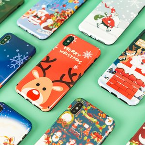 Free DHL UPS Iphone11 christmas design mobile phone shell animal graffiti Apple anti drop case iPhone 7 7plus 8 8plus XR