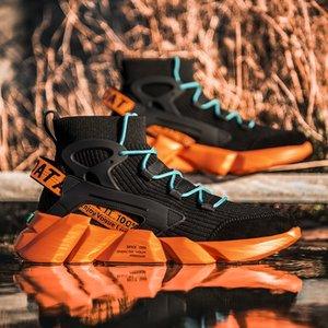 Sports de sport casual hommes coréenne style 2020 Automne extérieure chaussettes haut-dessus des chaussures de jogging pour les jeunes à la mode chaussures papa xx325 xx325