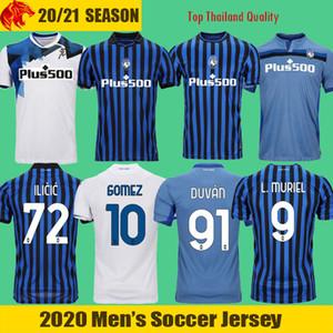 19 20 Atalanta Camisas de Futebol GOMEZ 2020 L.MURIEL ILICIC Camisa de Futebol DE ROON DUVAN Retro Atalanta Camisa
