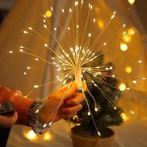120Leds Fuegos Garland luces remotas Warm White Control Luz de Navidad Año Nuevo partido de la barra de boda luces decorativas