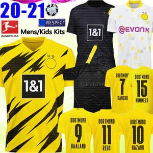 uniformes REYNA niños Kits de Hakimi camisa Borussia Dortmund HAALAND fútbol Jersey REUS PELIGRO Fútbol M.GOTZE maillot de pie de los hombres de SANCHO
