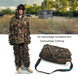 Wholesale-M L Polyester 3D Camouflage Woodland Suit Camouflage Clothing For Outdoor Working Training