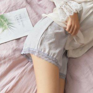 Vestuário Mulheres Shorts Black White Silk oco Lace Casual Meninas Sexy Short Femme Calcinhas Ladies cintura alta Mulheres de Verão