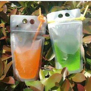 Горячие Креативность Само Герметичный пластиковый Beverage Сумки Diy Напиток Контейнер Питьевой фруктовый сок сумка для хранения Одноразовая для вечеринок DHL