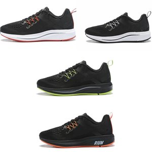 Soft bottom new design Explosion Selling air cushion men training gym shoes jogging shoes Running Shoes Black Pure White Sneakers