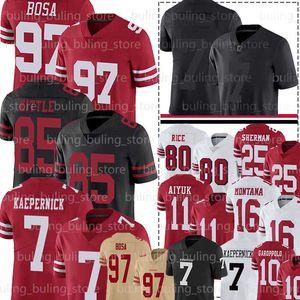 97 Nick Bosa 7 Colin Kaepernick 85 George Kittle San Francisco49ers10 maillots Jimmy Garoppolo Richard Sherman Brandon Aiyuk riz