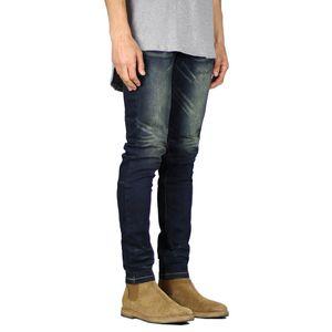 2020 New Fashion Men's Jeans Pants Solid Color Slim Fit Business Men Clothes Casual Toop Quality 80% Cotton Jeans Men