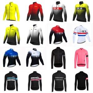 camice della bici manica lunga da uomo ALE Rapha INEOS cicla Jersey Montagna corsa respirabile dei vestiti asciutti rapido bicicletta sportivo S090701