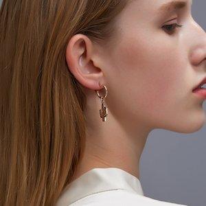 20paris / Los Heißer Verkauf Kaktus Ohrring-Ohr-Haken Europäisches Silber Pflanze baumelt Ohrring-Band für Frauen Metall aushöhlen Schmuck Accessoires