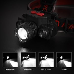 2020 new USB Rechargeable LED Headlamp Headlight Head Lamp Torch Waterproof High quality 1x XPE+2x COB LED chips
