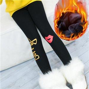 Girls Leggings Pants Winter Thickening Cotton Fleece Children's Warm Long Trousers Kids Casual Clothing Winter Legging Girl