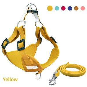 Adjustable Walking Buckles Outdoor Reflective Puppy Dog Stripe Formação macia Segurança Harness Pet Supplies Tração da corda Tecido Suede