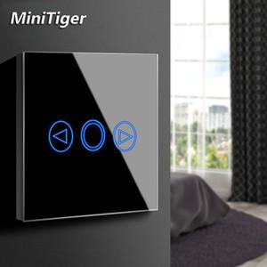 MiniTiger EU / UK Стандартный светодиод Сенсорный переключатель Сенсорный датчик диммер силы стены экрана света Переключатель стеклянная панель