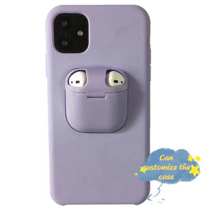Amazon Hot sale 2 in 1 Generation Silicone Back Earphone Cover Phone Case Can Customize Phone Case Pattern For iphone