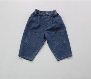 Fashions Quality Fall Kids Boys Girls Jeans Denim Trousers Korean Jeans Girls Boys Casual Denim Pants Long Trousers Children Clothes