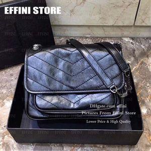 Luxurys Designer Taschen Niki Womens Umhängetaschen Handtaschen Geldbörsen Effini 2020 Heißverkauft Mode Echtes Leder Cover Crossbody Bag Totes
