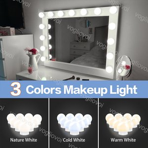 Wall Lamps Three Color Mirror Makeup LED Light USB 5V Hollywood Vanity Light Bulb For Studio Dressing Table Bedroom Bathroom Make up DHL