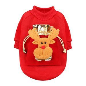 Pet camisola vermelha Natal morno bonito Christmas Theme Party Decoration Pet Ano Novo Roupa presente