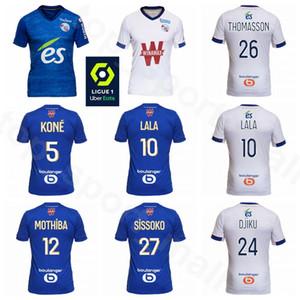 2020 Kits Camisa 2021 RC Strasbourg fútbol Jersey Alsacia 12 MOTHIBA 24 DJIKU 27 SISSOKO 26 THOMASSON KONE LALA CHAHIRI SIMAKAN Zohi Fútbol
