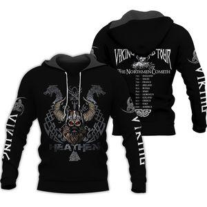 Liumaohua Viking Warrior Tattoo 3D Printed Shirts casual 3D Print Hoodies Sweatshirt Zipper Man Women satan Tattoo Hoodies 001