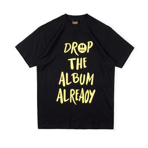 2020 Justin Bieber Drew House Smile Face Graffiti T shirt Short Sleeve O-Neck Cotton Hip Hop Tee Mens t shirts Women Tees Streetwear Tops
