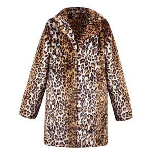 Leopard Pattern Womens Faux Fur Fashion Cardigan Coats Sexy Womens Winter Coats