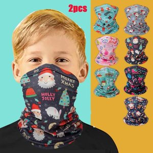# 25 2PC Kinder Bandana Stoff Weihnachten Gesichts-Abdeckungs-Schal Bewegung Schutz Im Freien Bandana Scary Face Ski Schal Sonnenschutz-Maske