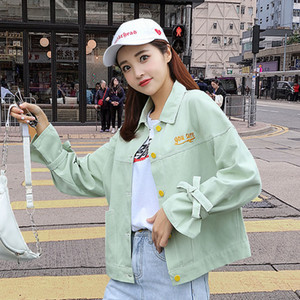 Hot Sale 2020 New Spring Coat Inspired Multi Floral Embroidered Jacket Long Sleeve Casual Chic Jacket Coat Women Turn-down Collar