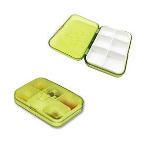 Высокие 6 отсеков Pill Box Mini рабат Пластиковой Видимость хранение 50 Портативного 1шт xQYOt allguy