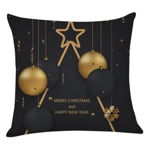 ديكور المنزل عيد ميلاد سعيد عيد الميلاد الحلي هدايا السنة الجديدة المخدة صوفا رمي سادة الأغطية هدية الحلي