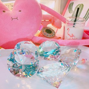 Diamond Props 1pc Craft Decoration Crystal Desktop Glass Decoration 8cm Gift Photo Home Christmas T200319 Wedding Gift Car Ornament bbygG