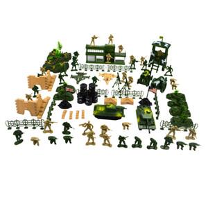 90 штук Army Men Playset 5см Цифры Солдат Действие с Баки Planes Флаги Больше Аксессуары Army Base Model Toy