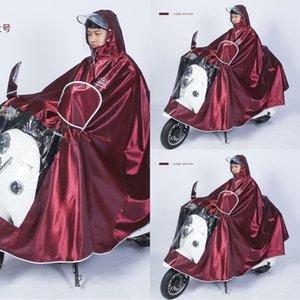 qLD3X ea60e poncho batterie moto corps vêtements moto Cloak vêtements de corps imperméable adulte à double bord extérieur équitation électrique épaissi