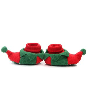 Baby shoes baby girl toddler shoes winter warm plus velvet plus cotton Christmas soft bottom