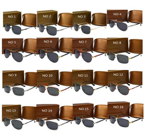 di lusso di alta qualità occhiali da sole UV400 occhiali da sole di sport per gli uomini e le donne di estate di occhiali parasole esterna della bicicletta di vetro di sole 17 colori