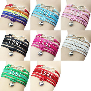 LGBT Bracelet Gay Multilayer Woven Color Lesbian Bracelet Wholesale LGBT Rainbow Bracelet Friendship Bracelets 20 Color XD23970