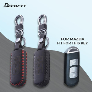 Top Leather Key чехол для Mazda 2 3 5 6 CX-3 CX-4 CX-5 CX-7 CX-9 RX8 Atenza Axela MX5 Смарт 2 3 кнопки ключ чехол брелок