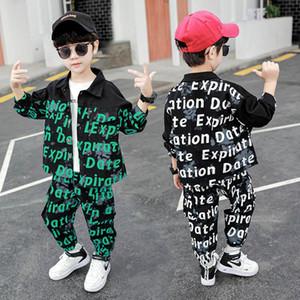 INS casual boys suits letter kids suits fashion letter coats jacket+ trousers pants 2pcs set boys clothes kids clothes kids outfits