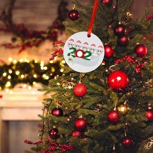 2020 New DIY Name Greetings Christmas Tree Decoration Interesting Ornaments Christmas Decorating Kit Creative Gift DHL free