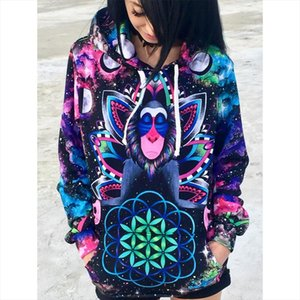 2020 New Arrivals Fashion 3D Print Kawaii Sweatshirt Femmes Sweatshirts Hoodies Women Youth Female Pockets Creative Plus Size