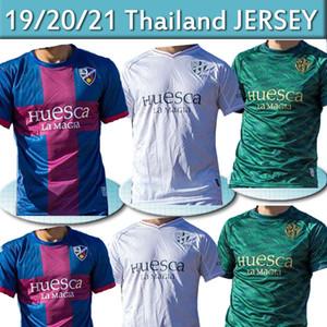 20 21 SD Huesca Soccer Jersey الرجال Kids Kit 2020 2021 Sergio Gómez J.Pulido Insua Okazaki Javi Galan Camisetas de Fútbol Shirts Thai