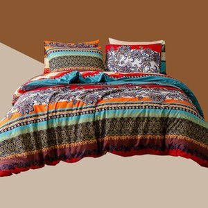 Colorful Bedding Set with 51*66CM Pillowcase Duvet Cover Sets Bed Linen Sheet Single Double Queen King Twin Covers Bed cover