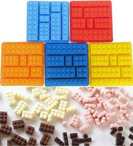 Silicone Cioccolatini Stampi torta Building Blocks vassoio di ghiaccio della muffa DIY Toys silicone del cioccolato muffa del cioccolato muffa della caramella Utensili da cucina DHE764