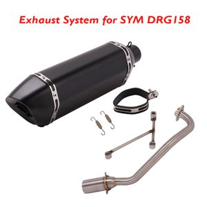 Sistema de escape de la motocicleta Conector completo Enlace TUBO Muffler Escape Scapa Tubería de punta para SYM DRG158