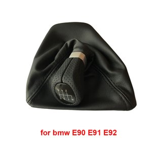 LHD 5speed 6speed Car Shift Knob Gear Knob With Leather Boot For Bmw 1 Series X1 E81 E82 E87 E88 E90 E91 E92