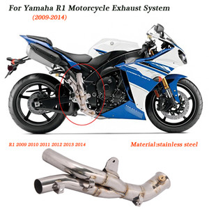 R1 Motorcycle Middle Link Pipe Original Exhaust Pipe Silencer System Silp on for Yamaha R1 2009 2010 2011 2012 2013 21014